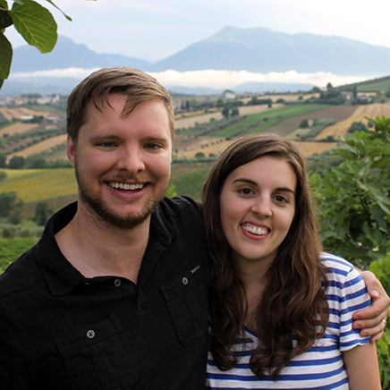 Daniel and Maggie in Italy
