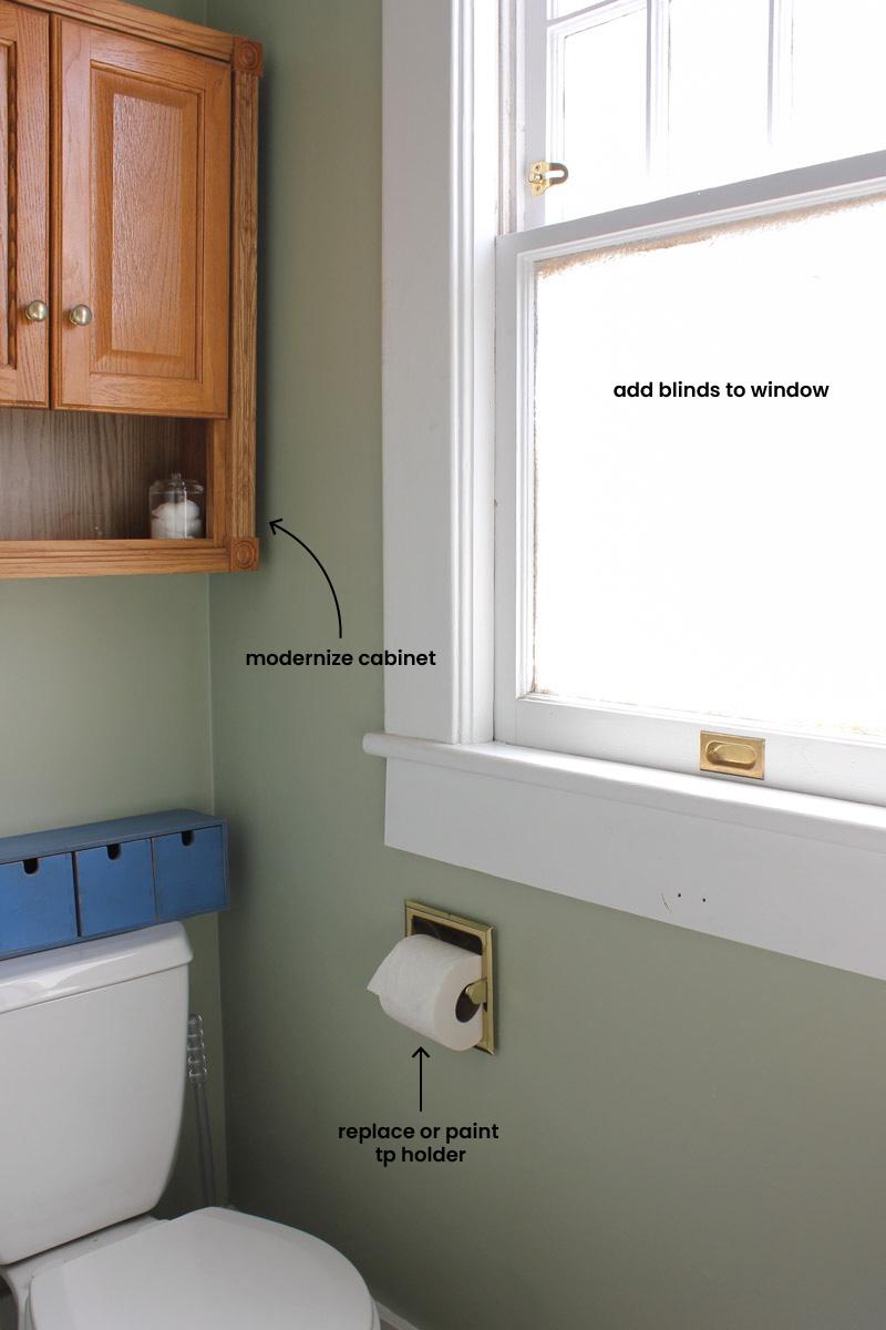 bathroom toilet area