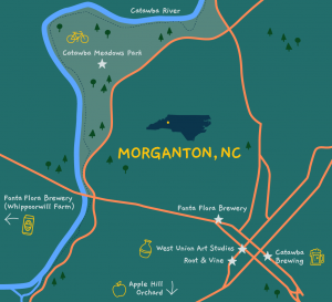 Morganton Map
